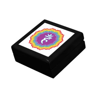 Throat chakra jewelry boxes