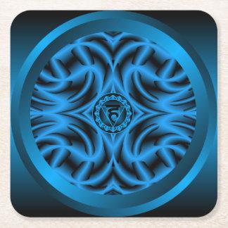 Throat Chakra Mandala Coaster