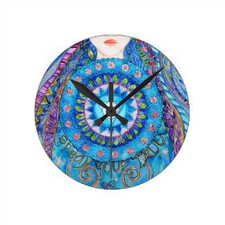 Throat Chakra Round Clock