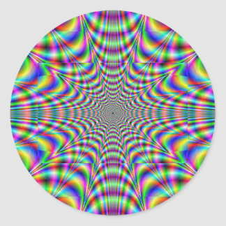 throbbing - optical illusion classic round sticker
