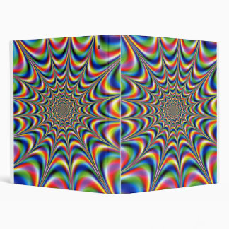 throbing fractal optical illusion binder