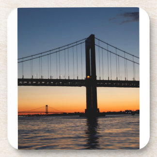 Throggs Neck and Whitestone Bridge Sunset Drink Coasters