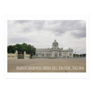 Throne Hall Thailand tourist attraction postcard