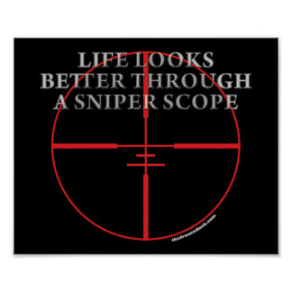 Through a Sniper Scope Posters
