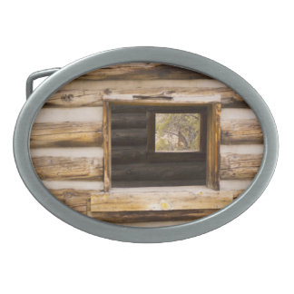 Through and Through Cabin Window Oval Belt Buckle