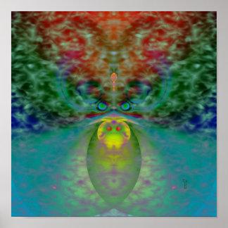 Through Fog It Peers (12 by 12) Art Print