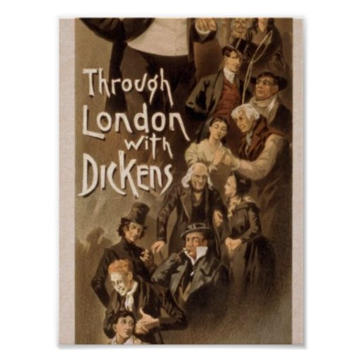 Through London with Dickens, 'Frank Oakes Rose' Poster