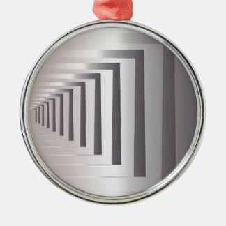 through open gates Silver-Colored round ornament