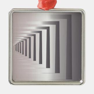 through open gates Silver-Colored square ornament