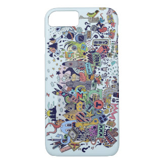 through the ages hand drawing iPhone 8/7 case