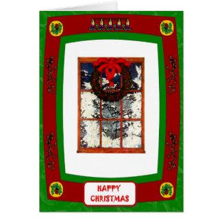 THrough the Christmas window Greeting Card