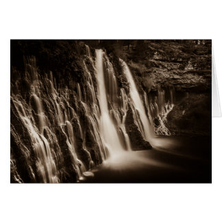 Through the Cracks Burney Falls Card