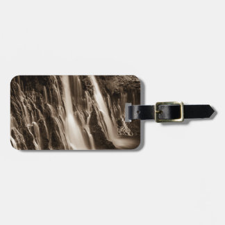 Through the Cracks Burney Falls Luggage Tag