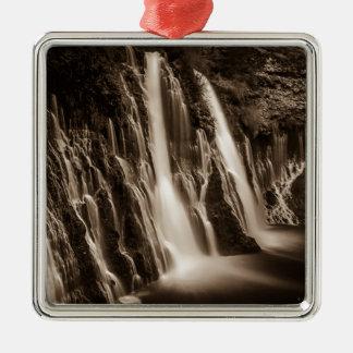 Through the Cracks Burney Falls Metal Ornament