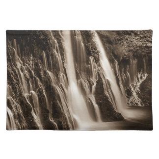 Through the Cracks Burney Falls Placemat