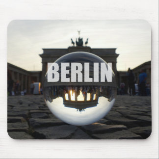 Through the crystal ball, Brandenburg Gate Mouse Pad