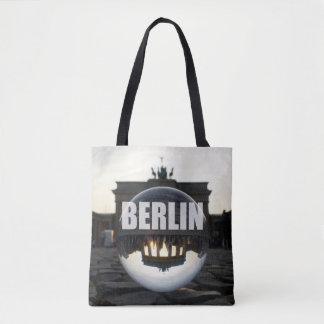 Through the crystal ball, Brandenburg gate Tote Bag