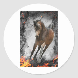 Through the Flames Classic Round Sticker