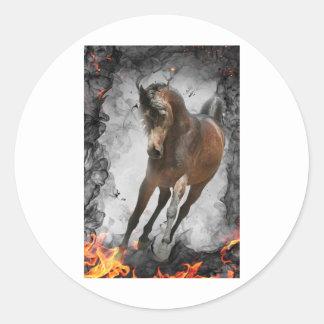 Through the Flames Round Sticker