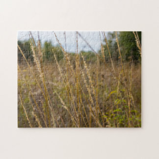 Through The Grass Tops Jigsaw Puzzle