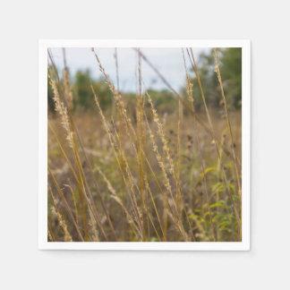 Through The Grass Tops Paper Napkin