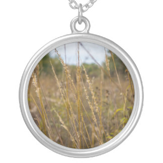 Through The Grass Tops Silver Plated Necklace