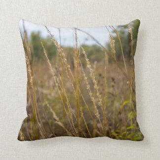 Through The Grass Tops Throw Pillow