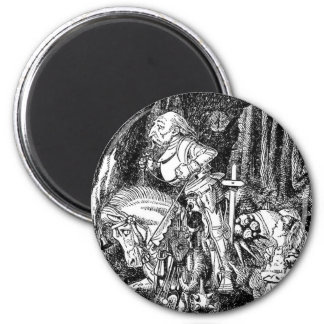 Through The Looking Glass - Design #1 2 Inch Round Magnet