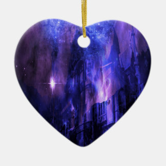 Through the Mists of Time Ceramic Heart Ornament