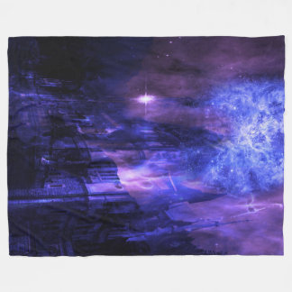 Through the Mists of Time Fleece Blanket