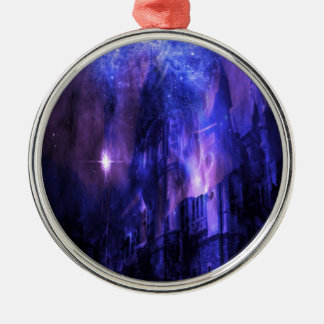 Through the Mists of Time Silver-Colored Round Ornament