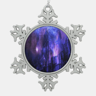 Through the Mists of Time Snowflake Pewter Christmas Ornament