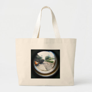Through The Peephole Large Tote Bag