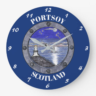 Through the Porthole Large Wall Clock