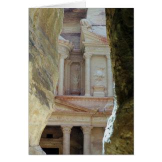 Through the Rocks - Petra Card