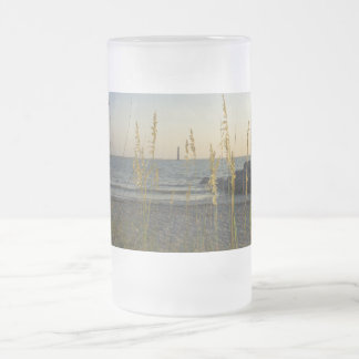 Through The Sea Oats Frosted Glass Beer Mug