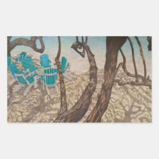 """Through the Trees, St John"" Sticker"
