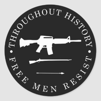 Throughout History, Free Men Resist Classic Round Sticker