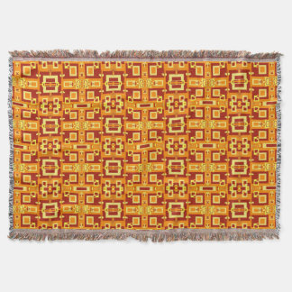 Throw Blanket Autumn Spice and Nut Design
