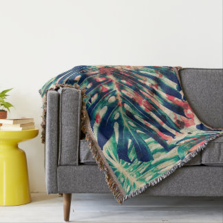 Throw blanket/ leaf print