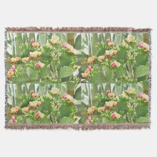 Throw Blanket - Prickly Pear Cactus In Bloom