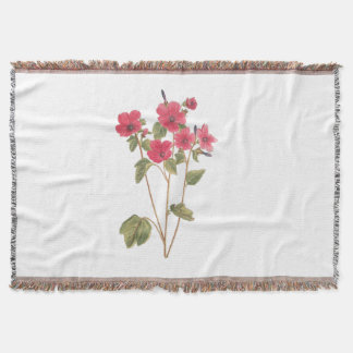 Throw Blanket with a flower vintage illustration