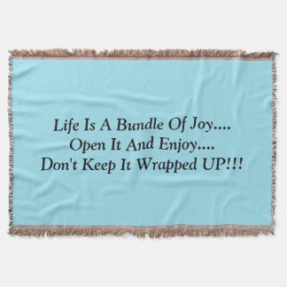 Throw Blanket with an inspirational message
