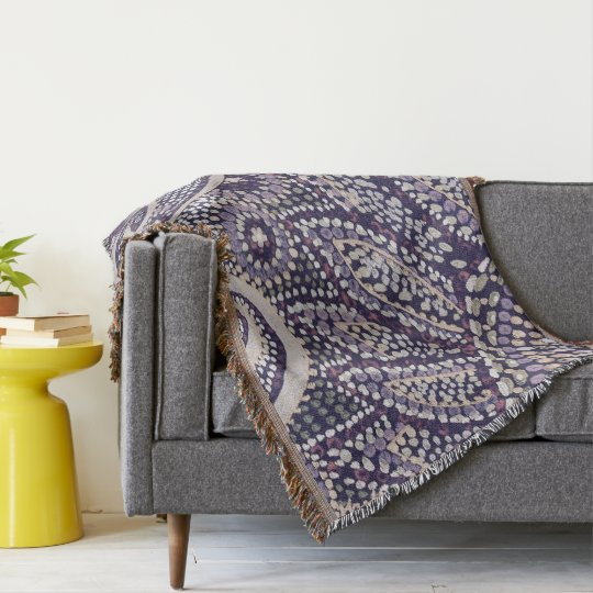 Throw blanket with mosaic print effect