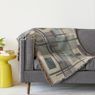 "Throw Blanket with ""New Plaid"" Design"