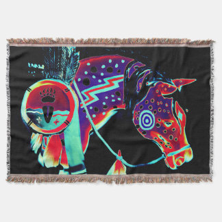 "Throw Blanket with ""Painted Pony"" design"
