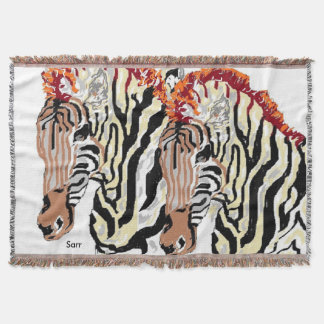 Throw Blanket Zebra's