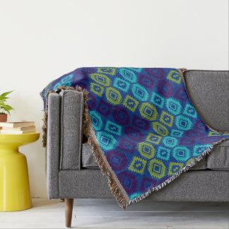 Throw Blankets. chevron In Peacock Color