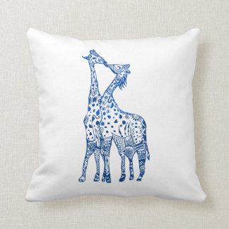 Throw Cushion Giraffes Art