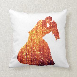 Throw Cushion ,Golden Couple, Kiss, Romance